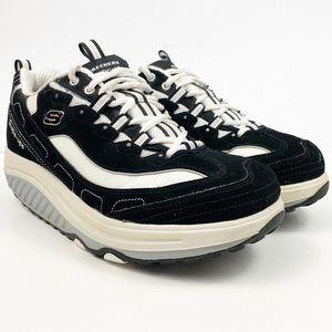 Skechers Shape Ups Shoes Black White Size 8.5
